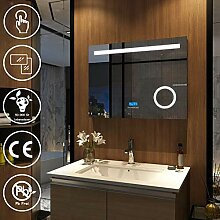 Meykoe LED Badspiegel Beleuchtung 80x60x6cm,