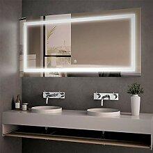 Meykoe LED Badspiegel mit Beleuchtung 50x70cm,