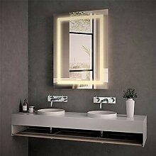 Meykoe LED Badspiegel mit Beleuchtung 80x60cm