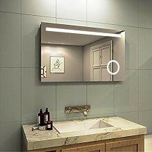 Meykoe LED Beleuchtung Badspiegel 100x60x4,5cm,