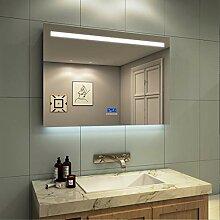 Meykoe LED Beleuchtung Badspiegel 100x70x6cm