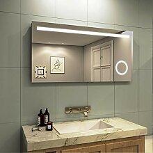 Meykoe LED Beleuchtung Badspiegel 120x60x4,5cm,