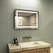 Meykoe LED Beleuchtung Badspiegel 80x60x4,5cm,