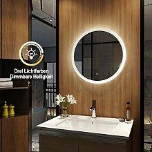 Meykoers Wandspiegel Badezimmerspiegel LED