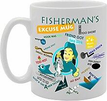 MG1567 Tasse, Motiv: Fisherman Excuse Fun Witz,