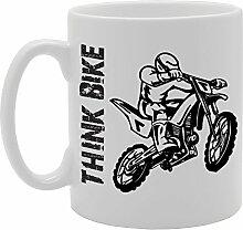 """MG2114 Tasse, Motiv """"Think Bike"""", Geschenkidee"""