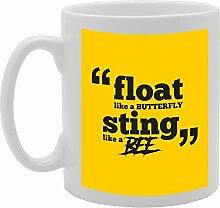 MG2186 Tasse aus Keramik, Motiv: Float Like A