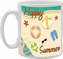 mg424Happy Summer Neuheit Geschenk bedruckt Tee