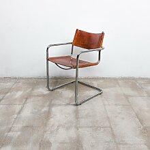 MG5 Sessel mit cognacfarbenem Ledersitz von Marcel