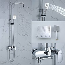 MGADERO Wasserhahn Bad Waschtischarmatur Messing