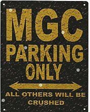 MGC Metall Parking Rustikaler Stil den großen 30,5x 40,6cm 30x 40cm Auto Schuppen Dose Garage Werkstatt Art Wand Spiele Raum