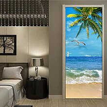 MGCfsm 3D Türtapete Türaufkleber Meer Strand