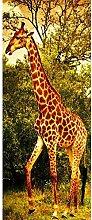 MGCfsm 3D Türtapete Türaufkleber Wald Tiere