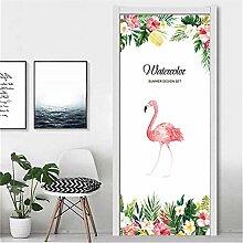 MGCfsm Türtapete Selbstklebend Tiere Flamingos