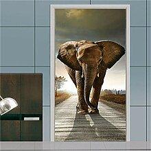MGCfsm Türtapete Selbstklebend Tierischer Elefant