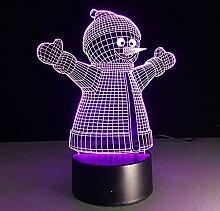 MGDFD Weihnachten Schneemann 7 Farbe Lampe 3D