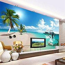 MGMMural 3D-Fototapete Wandbild Boy Blauer Himmel