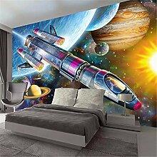 MGMMural 3D-Fototapete Wandbild Boy Raumschiff