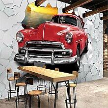 MGMMural 3D-Fototapete Wandbild Boy Rot Cool Auto