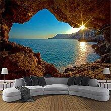 MGMMural 3D Wallpaper Fototapete Meer Höhle Sonne