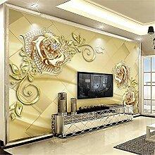 MGMMural 3D Wallpaper Selbstklebendes Golden