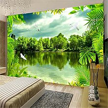 MGMMural 3D Wallpaper Selbstklebendes Grün Wald