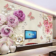 MGMMural 3D Wallpaper Selbstklebendes Lila Mode