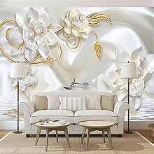 MGMMural 3D Wallpaper Selbstklebendes Modern Weiß
