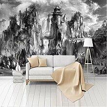 MGMMural 3D Wallpaper Selbstklebendes Schwarz Und
