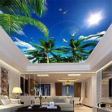MGMMural 3D Wandbild Selbst-Adhesive Blauer Himmel
