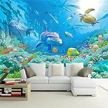 MGMMural Fototapete 3D Effekt Blau Ozean Tiere