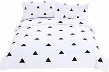 MGP Geometrische Bettbezug Bettwäsche Set schwarz-weiß Heimtextilien einfach gedruckte 3Pcs Twin voll Königin König , full