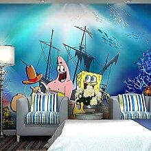 MGQSS 3D Wandbild selbstklebende Tapete Cartoon