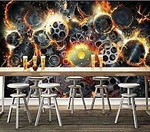 MGQSS 3D Wandbild selbstklebende Tapete Retro