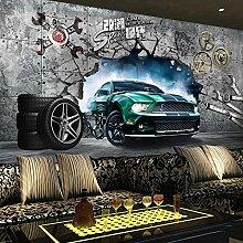 MGQSS 3D Wandbild selbstklebende Tapete Sportwagen