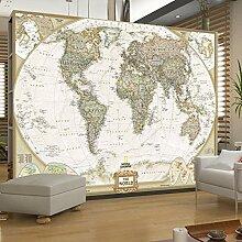 MGQSS 3D Wandbild selbstklebende Tapete Weltkarte