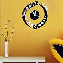 MGS-Wanduhr@DIY Fashion Spin Sticker Spiegel Wand