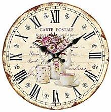 MGS-Wanduhr@Land Floral Wall Clock , m