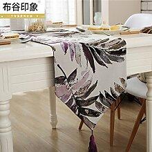 MH-RITA American Country Tischdecke Esstisch Tisch Flagge Flagge Heimtextilien Mode europäischen Modernes, minimalistisches Bett Fahnenstoff Decken Bettwäsche B 32 X 180 Cm.