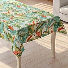 MH-RITA American land Tuch Tuch Baumwolle Tischtuch rechteckige Tischdecke Tischdecke Wohnzimmer TV-Schrank. Tropischer Regenwald 140 * 220 cm