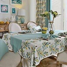 MH-RITA American Pastoral Tischdecke Tischdecke Tuch Baumwolle Tischdecke Tisch rechteckig modernen minimalistischen Runner E 130 X 220 Cm