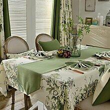 MH-RITA American Pastoral Tischdecke Tischdecke Tuch Baumwolle Tischdecke Tisch rechteckig modernen minimalistischen Runner G 90 X 90 Cm