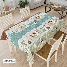 MH-RITA Amerikanische Ländliche frischen Baumwolltuch Tischdecke Tischdecke Tuch rechteckige Wohnzimmer TV-schrank Kaffee stylist 140 * 200 cm.