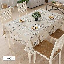 MH-RITA Amerikanische Ländliche frischen Baumwolltuch Tischdecke Tischdecke Tuch rechteckige Wohnzimmer TV-Schrank 100 * 140 cm