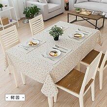 MH-RITA Amerikanische Ländliche frischen Baumwolltuch Tischdecke Tischdecke Tuch rechteckige Wohnzimmer TV-schrank Arboretum 140 * 220 cm
