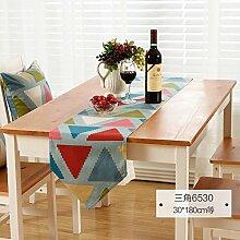 MH-RITA amerikanischen Drucken Geschenk Streifen Europäischen pastoralen Stil Tabelle Runner TV-Schrank Tisch Runner D 30 X 220 Cm