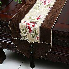 MH-RITA Chinesische Jade Garten Geschenk Tischdecke Tischdecke Bett Schrank Tisch Matte Flagge Flagge lange Tuch D 33 X 230 Cm