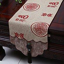 MH-RITA Chinesische Jade Garten Geschenk Tischdecke Tischdecke Bett Schrank Tisch Matte Flagge Flagge lange Tuch H 33 X 180 Cm.