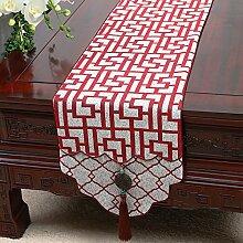 MH-RITA Chinesische Jade Garten Geschenk Tischdecke Tischdecke Bett Schrank Tisch Matte Flagge Flagge lange Tuch L 33 X 180 Cm.