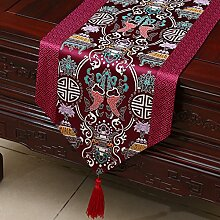 MH-RITA Chinesischer Garten Geschenk Tischdecke Tischdecke Bett Schrank Tisch Pad Flagge Flagge lange Tuch europäischen Stoff R 33 X 230 Cm